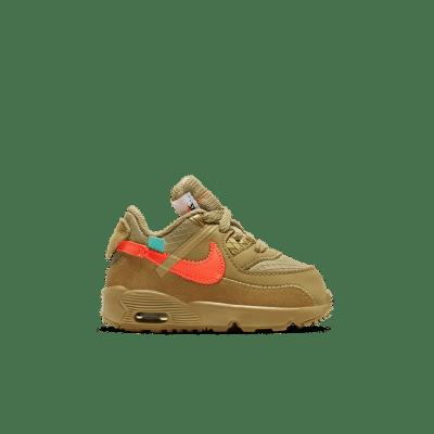 Nike The Ten: Toddler Air Max 90 'Desert Ore' Desert Ore/Desert Ore/Hyper Jade/Bright Mango BV0852-200