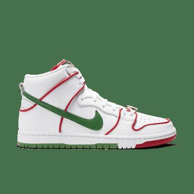 Nike SB Dunk High 'Paul Rodriguez' White/White/Classic Green/University Red CT6680-100