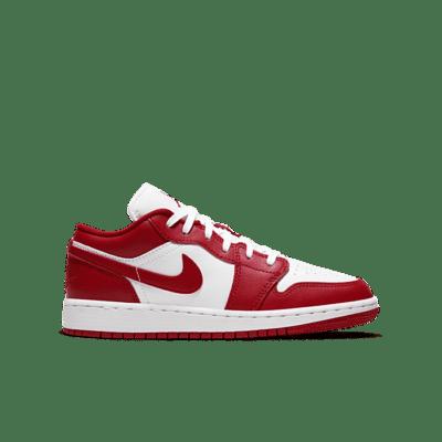 """Air Jordan 1 LOW (GS) """"GYM RED"""" 553560-611"""