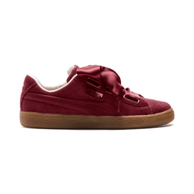 Puma Basket Heart Corduroy Red 366729 02