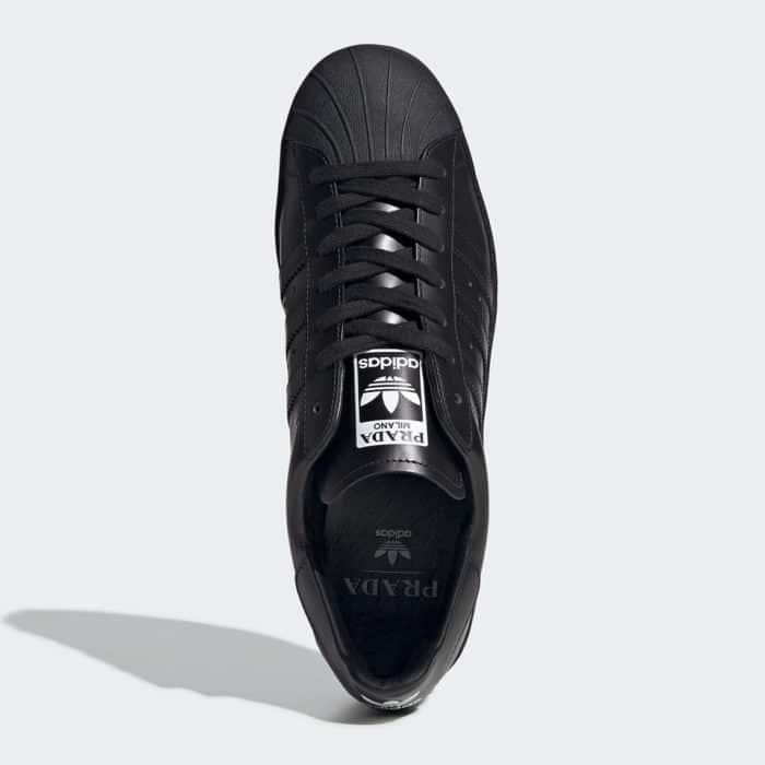 black Adidas Prada luxury