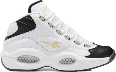 Reebok Question Mid Schoenen White / Black / Gold Metallic EF7599
