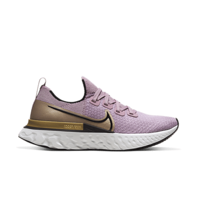 Nike React Infinity Run Flyknit Plum Fog Metallic Gold (W) CD4372-500