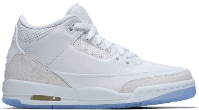 Jordan 3 Retro Pure White 2018 (GS) 398614-111