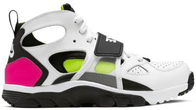 Nike Air Trainer Huarache White Laser Fuchsia Volt Black (GS) CJ0405-100