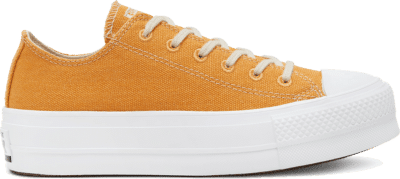 Converse Renew Cotton Chuck Taylor All Star Platform Low Top voor dames Sunflower Gold/White/White 567104C