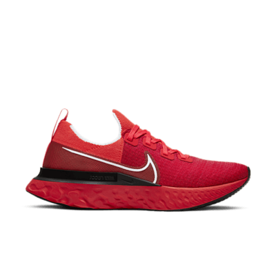 Nike React Infinity Run Flyknit Bright Crimson Black CD4371-600