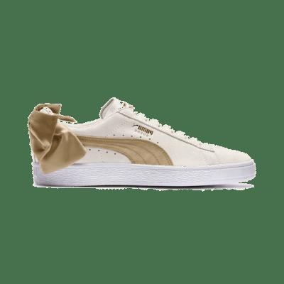 Puma Suede Bow Varsity sportschoenen voor Dames Wit / Goud 367732_03