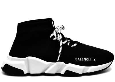 Balenciaga Speed Lace Up Black White (W) 562159 W1HP0 1000