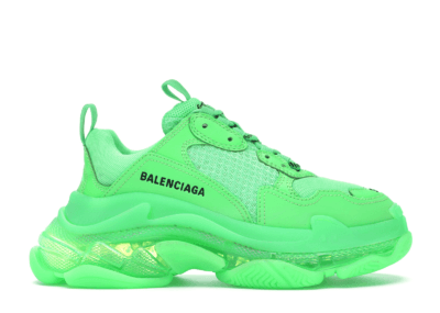 Balenciaga Triple S Neon Green Clear Sole (W) 544351 W09OL 3801