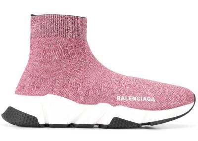 Balenciaga Speed Lurex Knit Metallic Pink (W) 593698 W0682