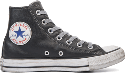 Converse Chuck Taylor All Star Leather Vintage Star Studs High Top Black 165760C
