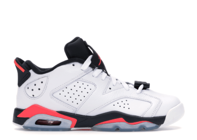 Jordan 6 Retro Low White Infrared 23 Black (GS) 768881-123