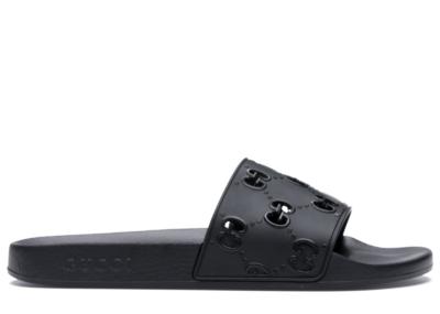 Gucci GG Slide Rubber Black 575957 JDR00 1000