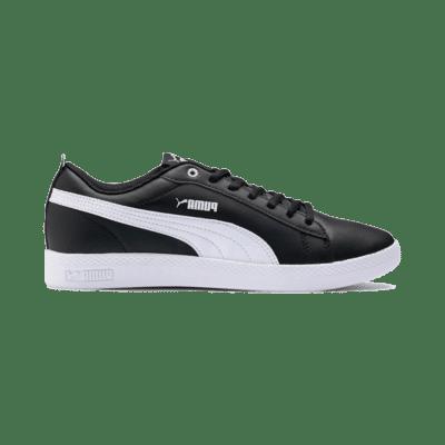 Puma Smash v2 leren sportschoenen voor Dames Wit / Zwart 365208_02