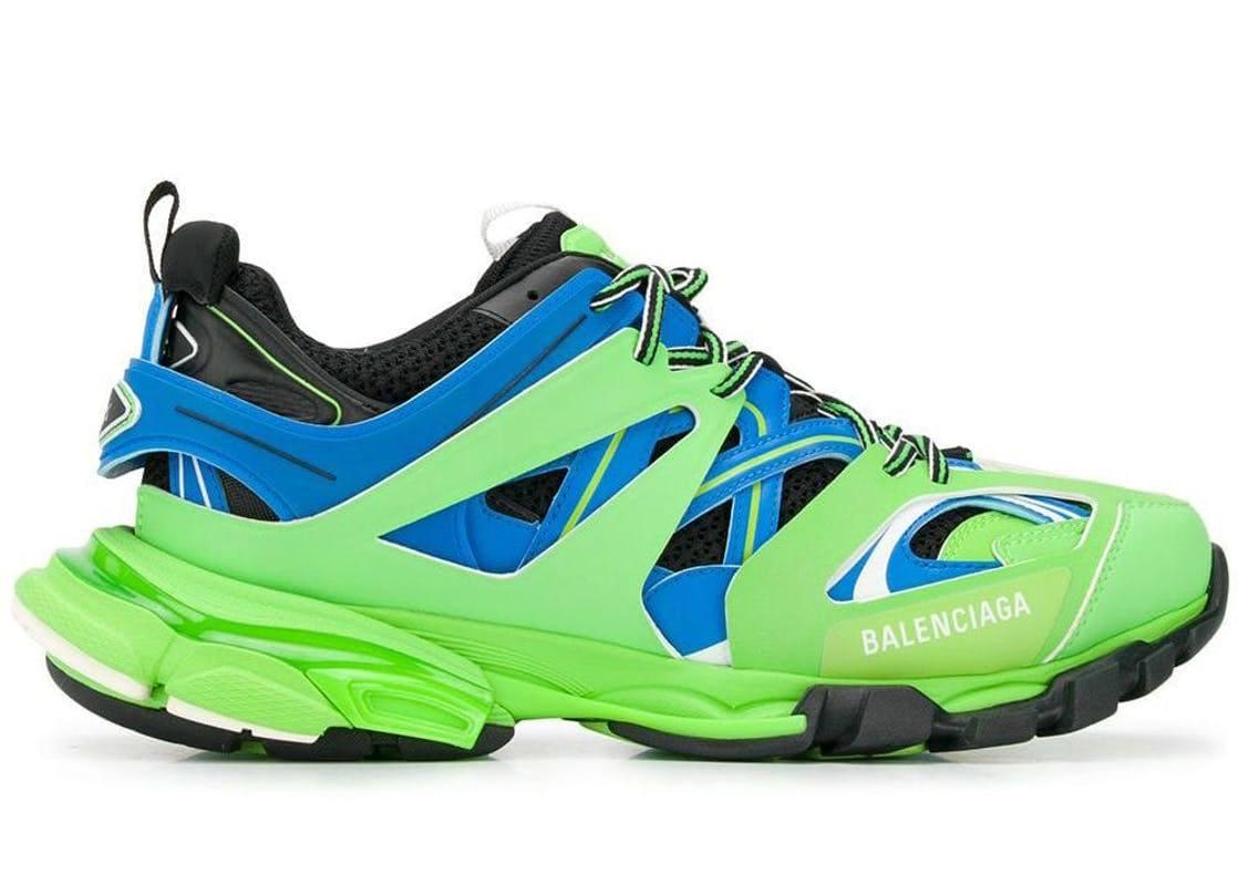 Balenciaga Track Trainers Green Blue Green/Blue 542023W1GB8