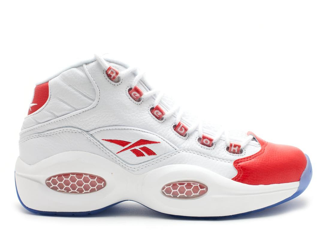 Reebok Question Mid Pearlized Red (2012) White/Pearlized Red 79757