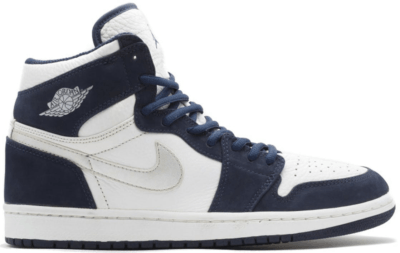 Jordan 1 Retro Japan Navy (2001) White/Metallic Silver-Midnight Navy 136060-101