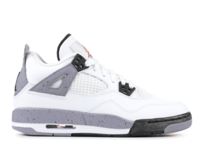 Jordan 4 Retro White Cement 2012 (GS) White/Black-Cement Grey 408452-103