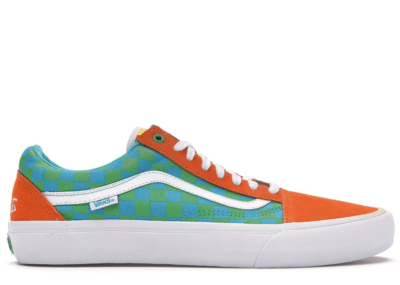 Vans Old Skool Golf Wang Orange Orange/Blue/Green VNOOOZD4J7S