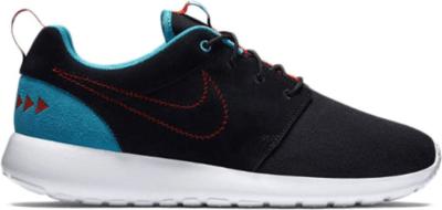 Nike Roshe Run N7 Black/Dark Turquoise/University Red 746654-004