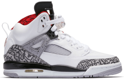 Jordan Spizike White Cement 2017 (GS) White/Varsity Red-Cement Grey-Black-Dark Grey 317321-122