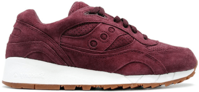 Saucony Shadow 6000 Burgundy Suede (Packer Shoes) Burgundy/White S70222-7