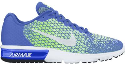 Nike Air Max Sequent 2 Medium Blue Ghost Green (W) Medium Blue/Ghost Green-Barely Volt-White 852465-400