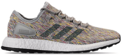 adidas Pureboost Grey Multi-Color Ash Silver/Raw Green/Shock Yellow AQ0051