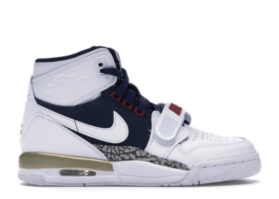 Jordan Legacy 312 Olympic (GS) White/White-Midnight Navy-Varsity Red-Metallic Gold AT4040-101