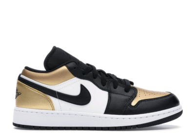 Jordan 1 Low Gold Toe (GS) Metallic Gold/Black-White CQ9487-700