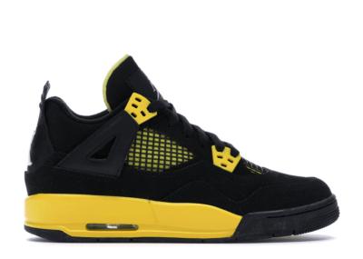 Jordan 4 Retro Thunder 2012 (GS) Black/White-Tour Yellow 408452-008