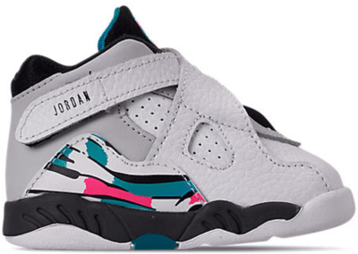 Jordan 8 Retro South Beach (TD) White/White-Turbo Green-Neutral Grey 305360-113