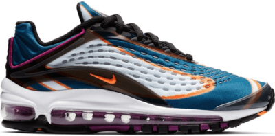 Nike Air Max Deluxe Blue Force (GS) Cool Grey/Total Orange-Blue Force-Black-Bright Grape-Cobalt Tint AR0115-002