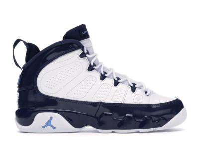 Jordan 9 Retro Pearl Blue (GS) White/University Blue-Midnight Navy 302359-145