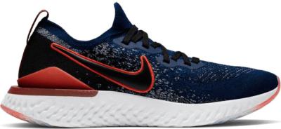 Nike Epic React Flyknit 2 Rabid Panda Blue Void/Habanero Red-Team Red-Black CJ0770-400