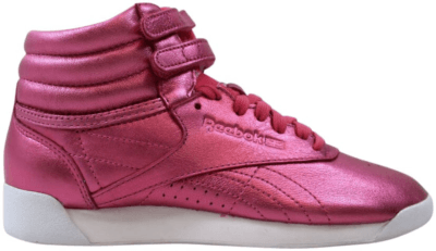 Reebok Freestyle Hi Metallic Sharp Pink  (W) Sharp Pink/White CN0960