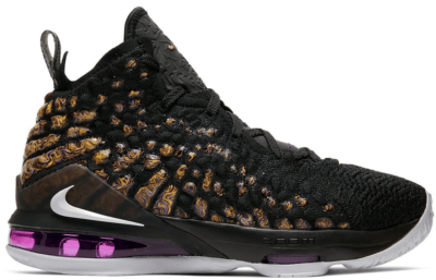 Nike LeBron 17 Lakers (GS) Black/White-Eggplant-Amarillo BQ5594-004