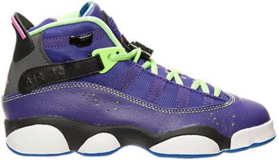 Jordan 6 Rings Bel-Air (GS) Court Purple/Club Pink-Black-Flash Lime 323419-515