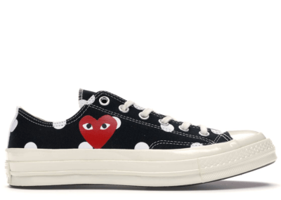 Converse Chuck Taylor All-Star 70s Ox Comme des Garcons PLAY  Polka Dot Black Black/White-Red 157248C