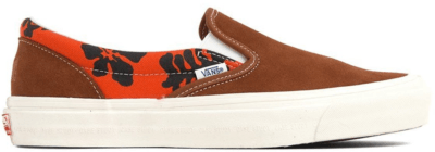 Vans Slip-On Modernica Orange Hawaiian Print Leather Brown/Hawaiian VN0A45JKVQJ