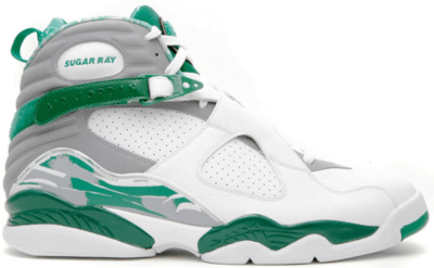 Jordan 8 Retro Ray Allen Boston Celtics PE Home White/Stealth-Clover H007-M-JORD-962-48715