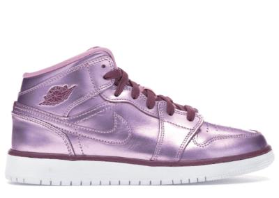 Jordan 1 Mid Pink Rise (GS) Pink Rise/White-Noble Red AV5174-640