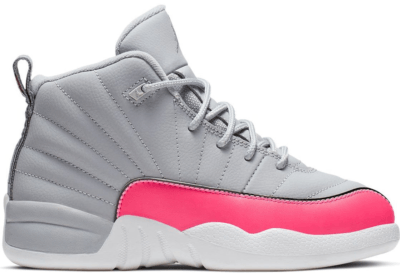 Jordan 12 Retro Wolf Grey Racer Pink (PS) Wolf Grey/Racer Pink-Black 510816-060