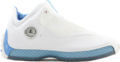 Jordan 18 OG Low Melo White/Chrome – University Blue – Metallic Silver 306151-104
