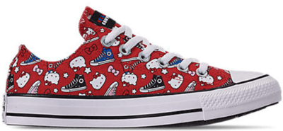 Converse Chuck Taylor All-Star Ox Hello Kitty Fiery Red (W) Fiery Red/Black-White 163913F