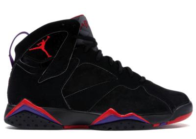 Jordan 7 Retro Raptors (2002) Black/Dark Charcoal-True Red 304775-006