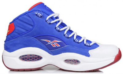 "Reebok Question Mid Packer Shoes ""Practice"" Ultramarine Blue/White J-99077"