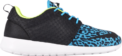 Nike Roshe Run FB Blue Leopard Current Blue/Black-White-Volt 580573-402