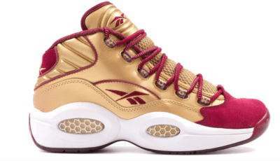 Reebok Question Mid Packer Shoes Saint Anthony Gold/Burgundy 181576
